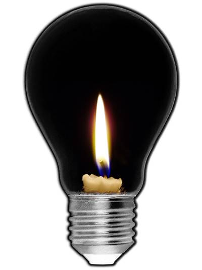 Candle in Light Bulb